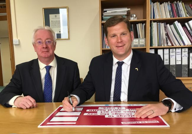 TVBC chief executive Roger Tetstall (left) and leader Cllr Phil North (right)
