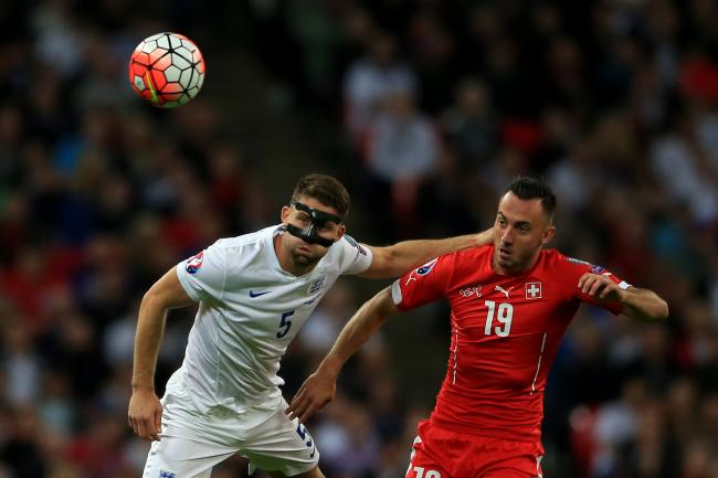 Switzerland striker Josip Drmic (right) will play for Norwich next season