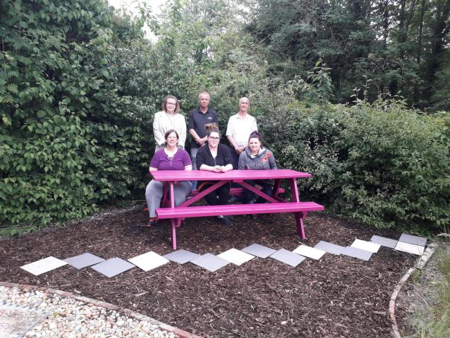 Staff in the transformed garden