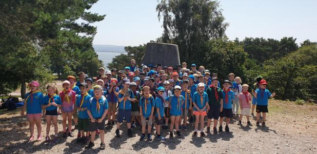 Andover District Beavers at Brownsea Island