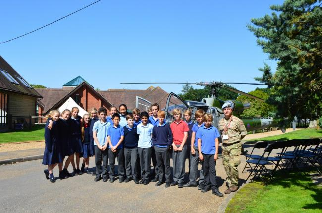 Pupils were treated to a special display courtesy of the Army Air Corps