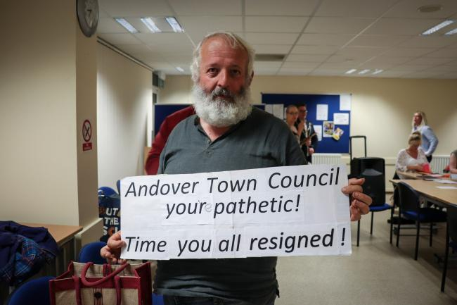 Nigel Long made his feelings known at last Friday's meeting