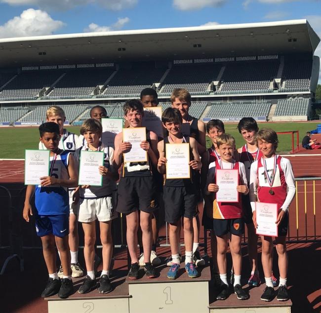 Farleigh School athletes at the national competition