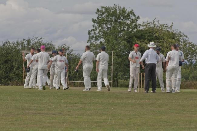 Wherwell celebrate a wicket