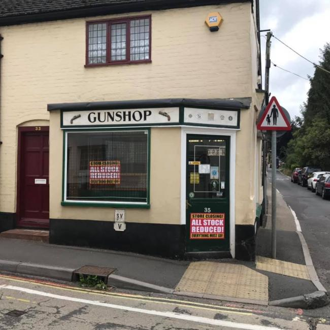 The gun shop, in Overton. Image: Holly Foat