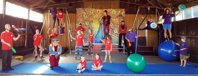 Ludgershall Circus Club at its first summer camp