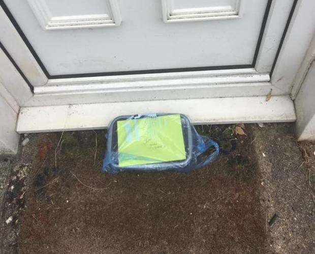 Andover Advertiser: The basket was left on the family's doorstep