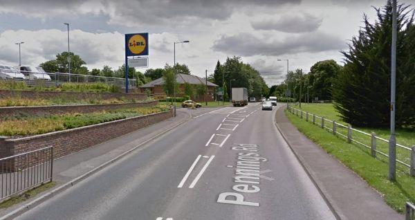 The incident took place on Pennings Road near Lidl