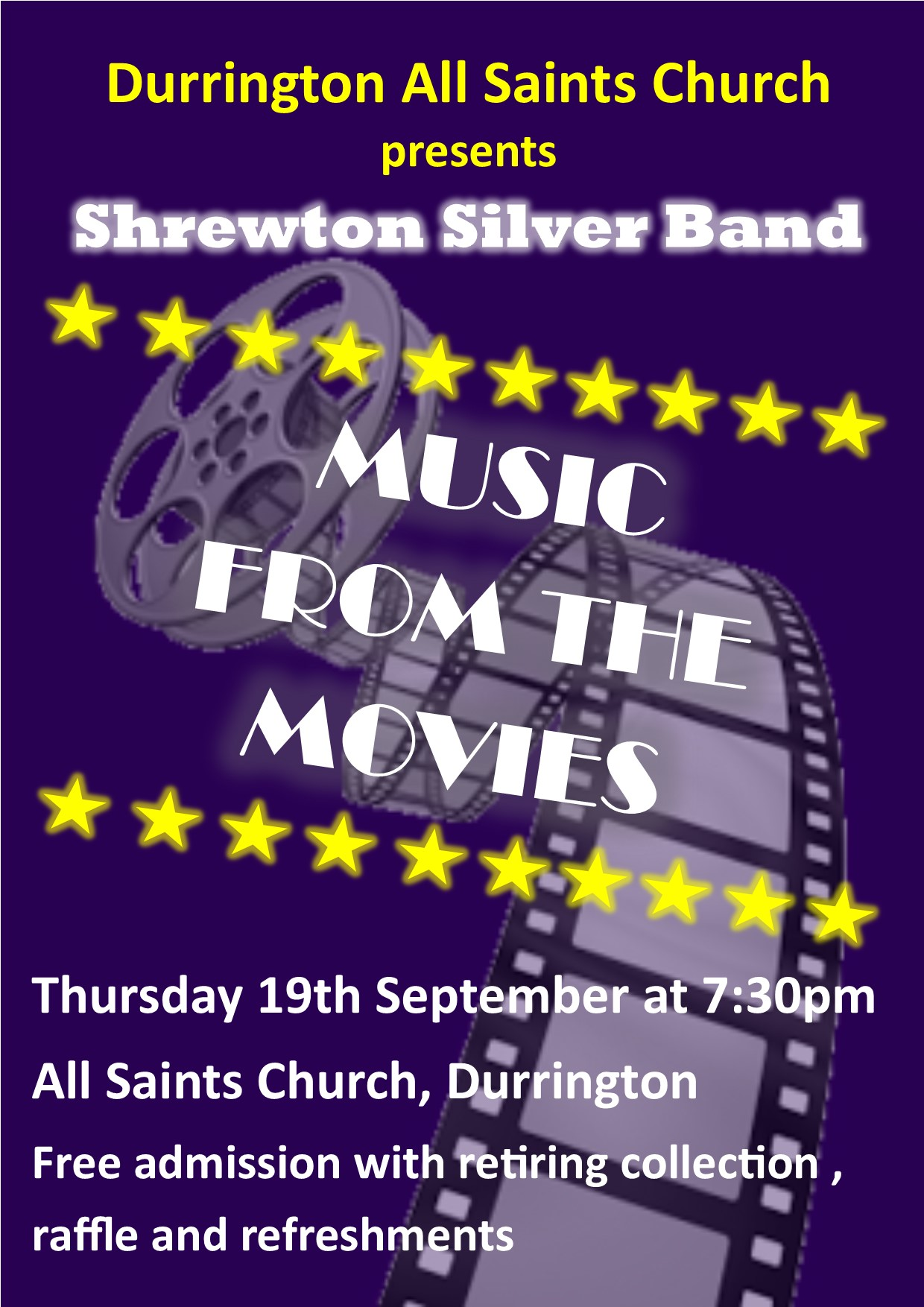 Shrewton Silver Band featuring music from the movies