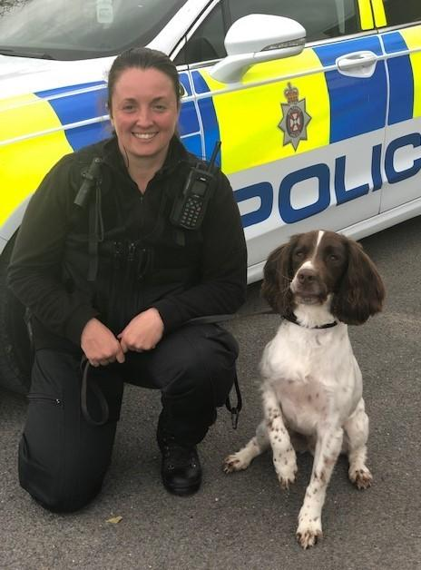 PC Sam Dutton and police dog Ted