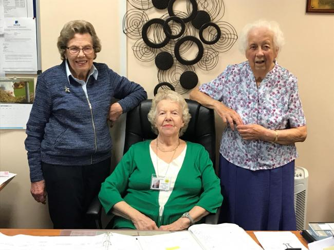 Patricia, Pat and Betty have been volunteering for decades