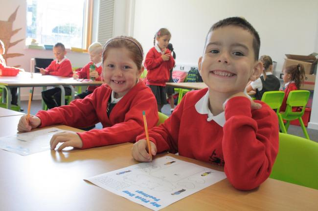 Pupils at Wellington Eagles enjoying their new school