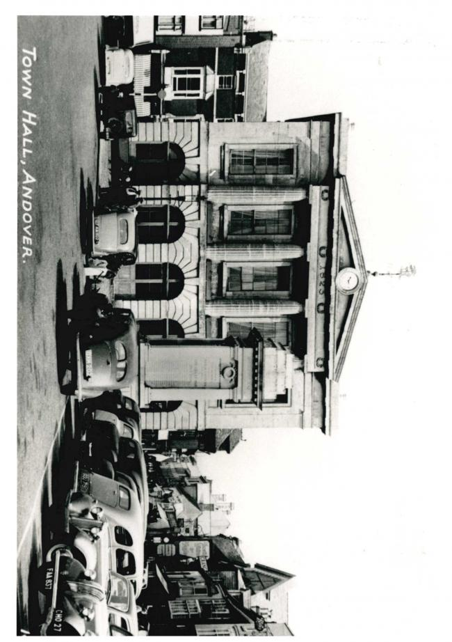 Andover Guildhall in the early 1950s.