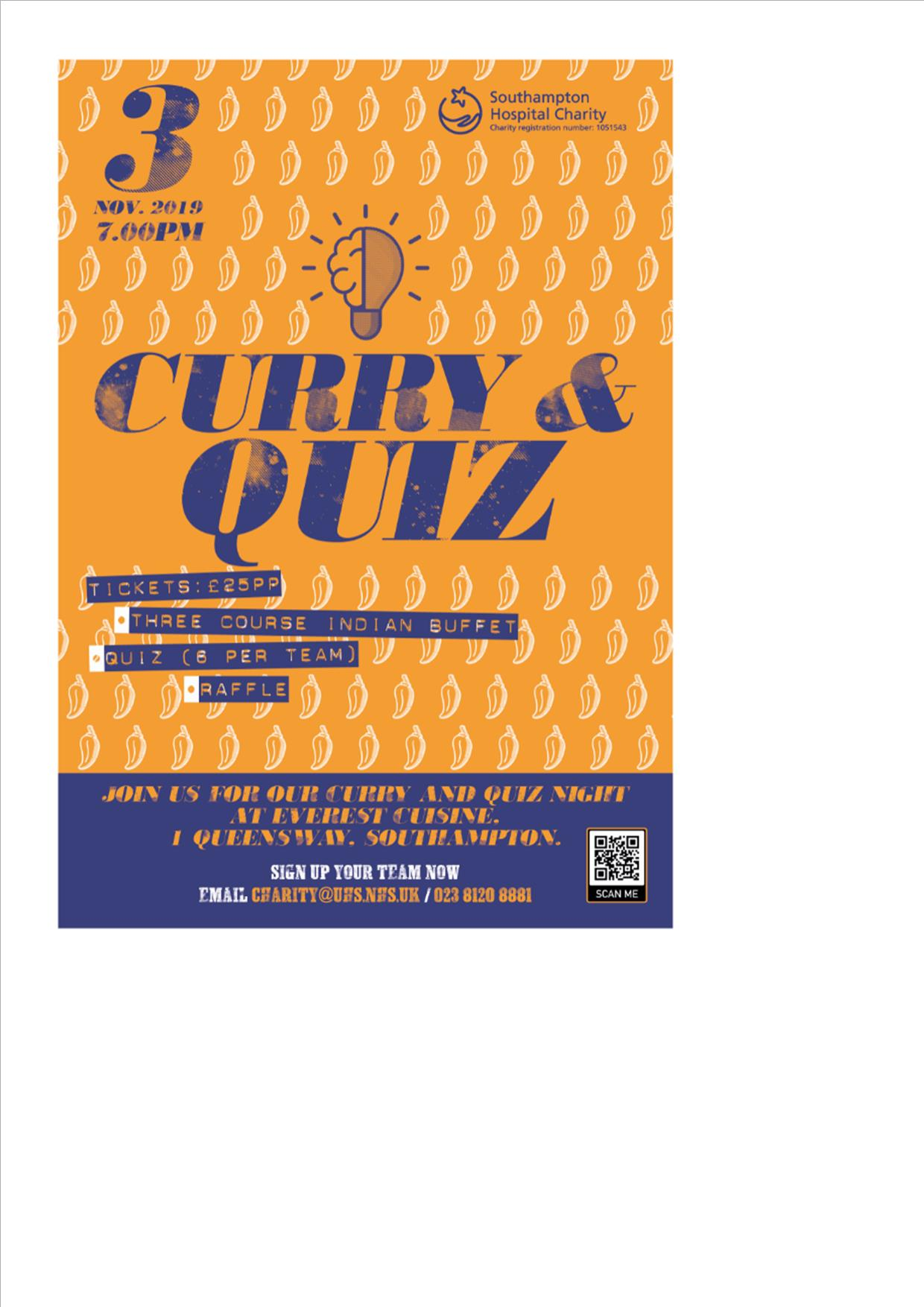 Curry and Quiz for Southampton Hospital Charity