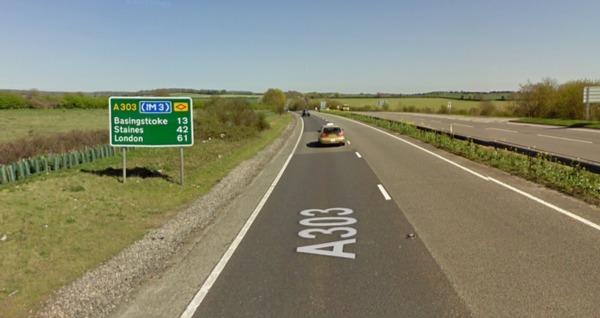 A lorry has broken down on the A303 eastbound between Bullginton Cross and Overton Road