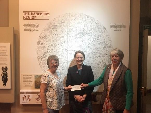 Sue and Margaret from the ATTA present the cheque to Louise
