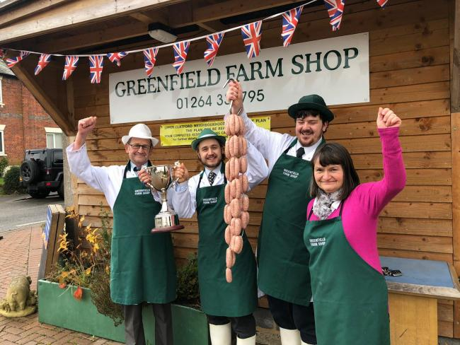 Hot dogs! Greenfields staff celebrate after winning Sausage of the Year