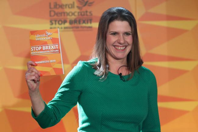 Liberal Democrats leader Jo Swinson during the launch of her party's manifesto (Photo: Yui Mok/PA Wire)
