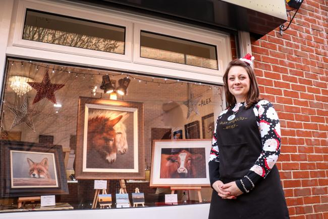 Alex McGarry opened her studio and gallery in the town centre in October