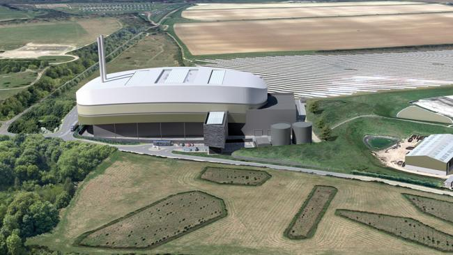 The planned waste-to-energy incinerator