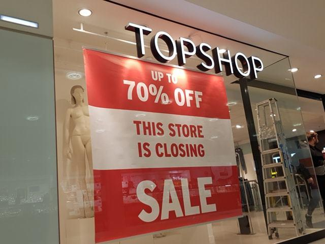 Topshop in The Mall, Blackburn, is closing