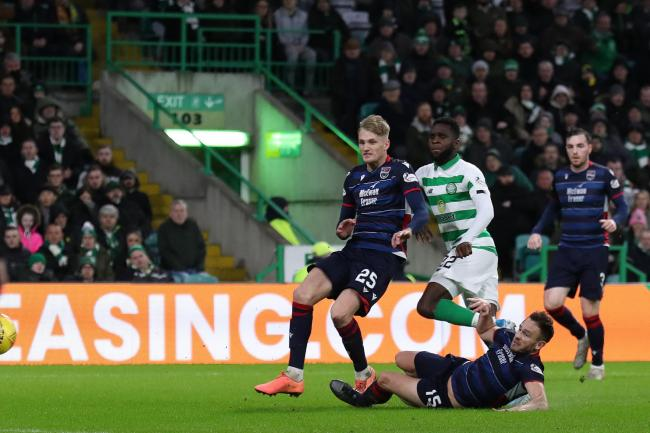 Celtic's Odsonne Edouard scores his side's third goal