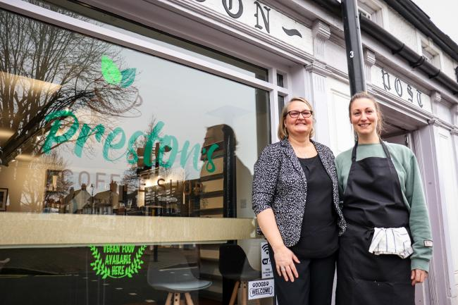 Owner Carla (left) and step-daughter Carley (right) opened the new cafe last Saturday