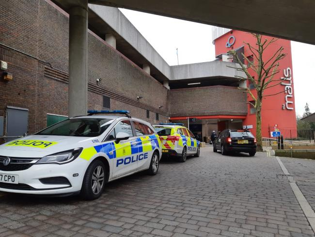 Police incident at Festival Place