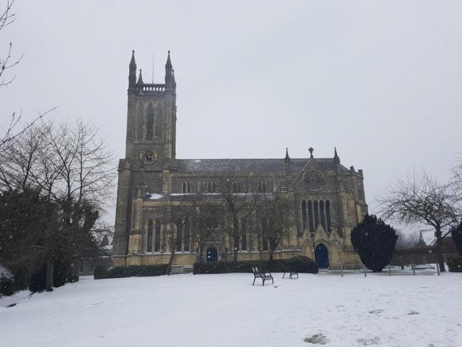 Andover was affected when snow hit the country last February