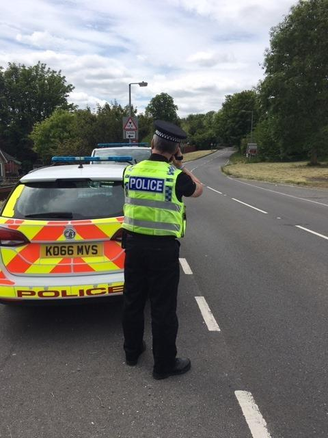 Police carried out further speed checks in Porton over the weekend. Photo: Amesbury police