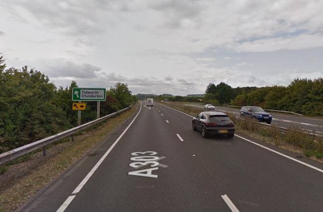 The incident happened on the A303 westbound near Parkhouse Cross