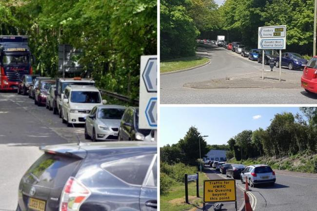 Drivers lining up outside Basingstoke and Andover tips