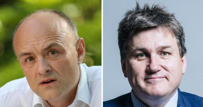 Kit Malthouse (right) says he 'understands people's frustration and anger' over the Dominic Cummings (left) saga