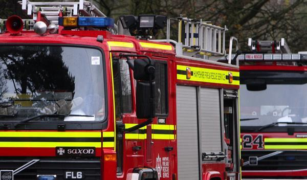 Firefighters are dealing with thatched fire in Thruxton