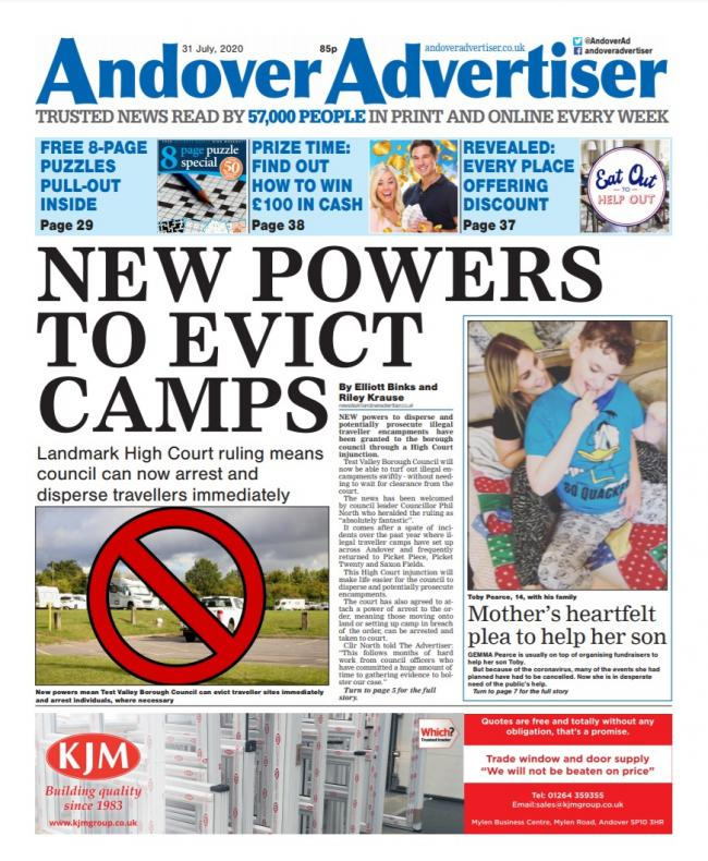 Andover Advertiser 31/07/2020