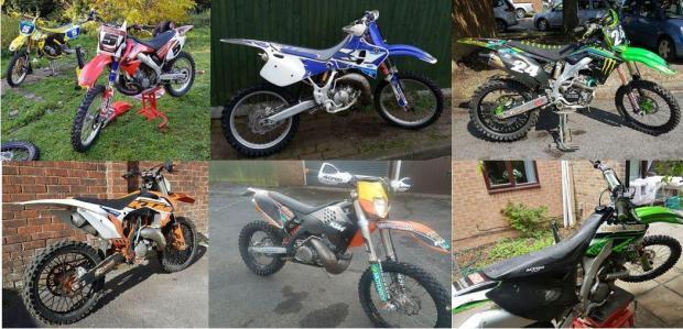 Andover Annonceur: Certains des motos volées d'Andover le mois dernier