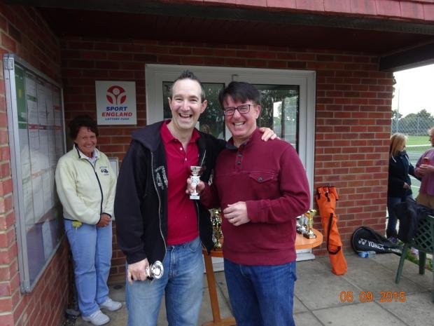 Andover Advertiser: Chris joined Old Basing Tennis Club in the 1980s