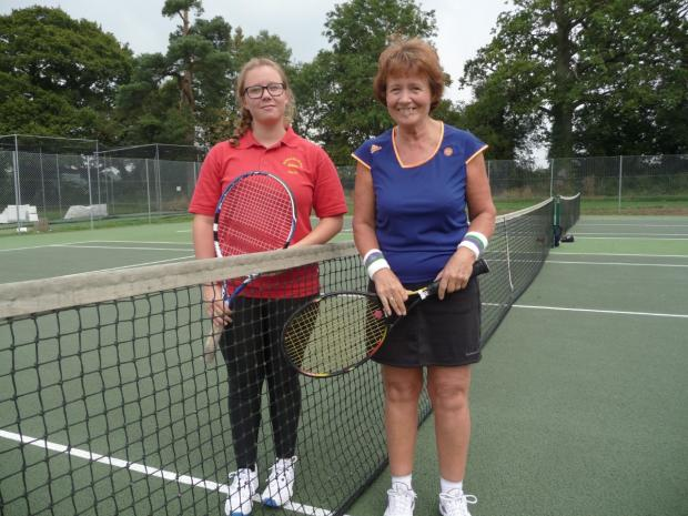 Andover Advertiser: Chris playing tennis at Old Basing Tennis Club