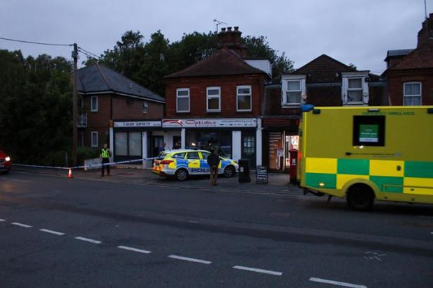 Police incident near Andover train station