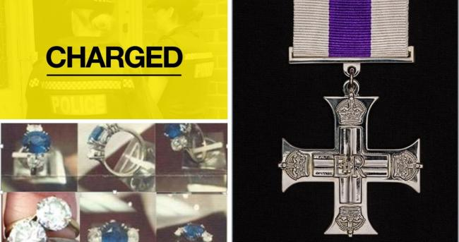 A Military Cross, jewellery and money were stolen in the burglary. Credit: Test Valley Cops and HMSO