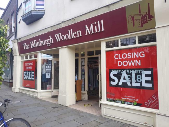 Edinburgh Woollen Mill group lodged papers at the Hugh Court saying it intended to appoint administrators last week