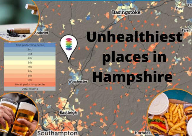 Unhealthiest places to live in Hampshire revealed – how does your postcode fare?