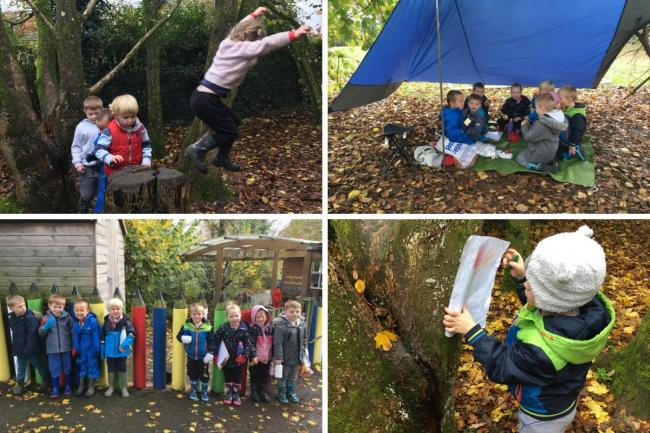 The Saplings class at Hatherden School have been taking part in a range of woodland activities
