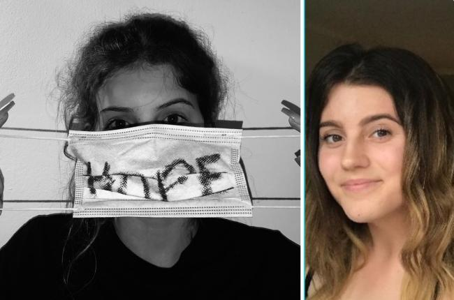 Maizie Bennett (right) was the youth winner of Alabaré's 'This is My Hope' calendar competition with Hopeful Reality (left)