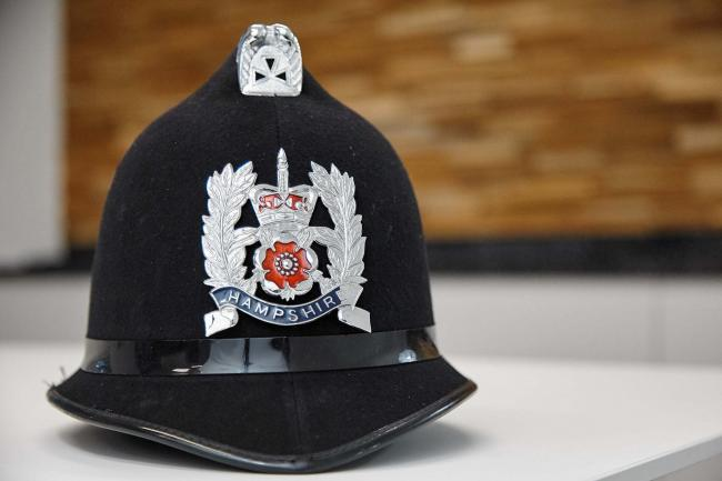 A Hampshire Constabulary helmet