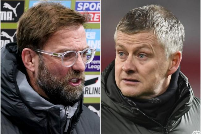 Liverpool boss Jurgen Klopp (left) and Manchester United counterpart Ole Gunnar Solskjaer