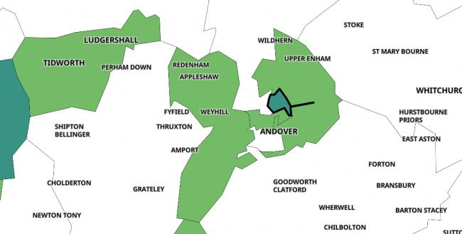 These are the areas in Andover with most Covid cases