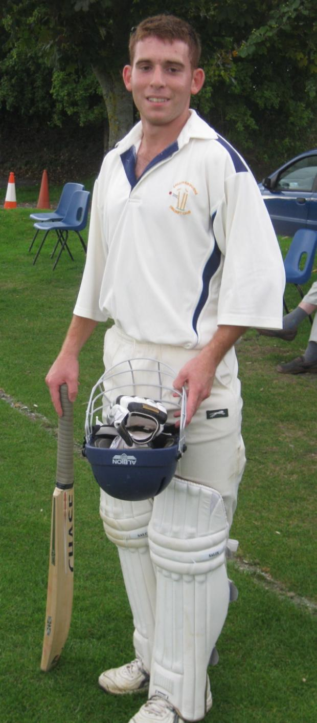 Ian Kiy carried his bat for Collingbourne