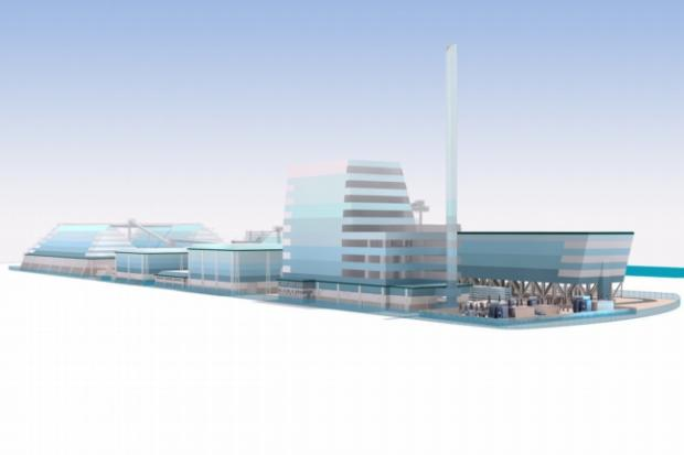 Planned biomass power station in Southampton