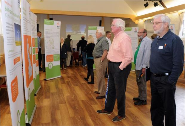 Exhibitions on wind farm plan
